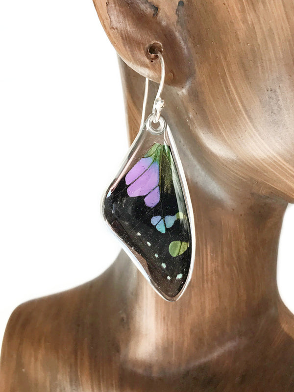 Purple Spotted Swallowtail Dangles | Butterfly Earrings | Light Years