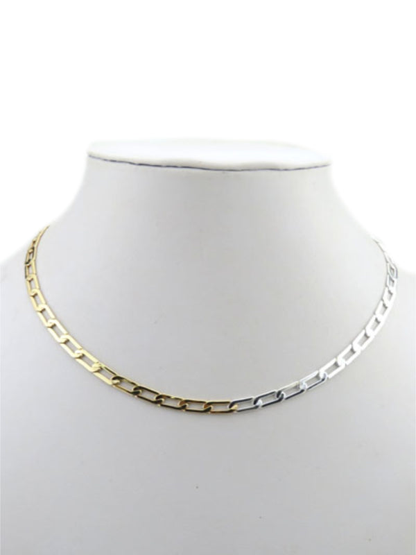 Two Tone Linked Chain Necklace | Gold Plated Paperclip | Light Years