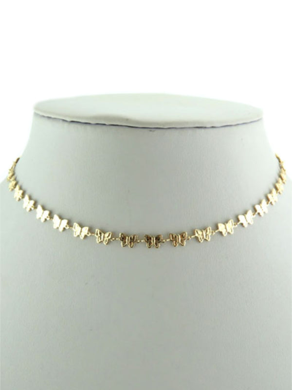 Butterfly Choker Necklace | Gold Silver Plated | Light Years Jewelry
