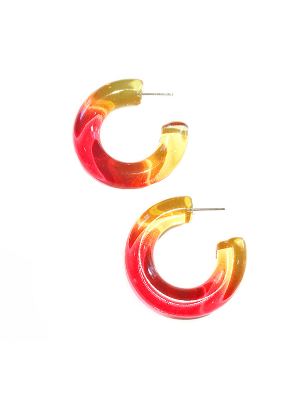 Colorful Ombre Acrylic Hoops | Statement Posts Earrings | Light Years