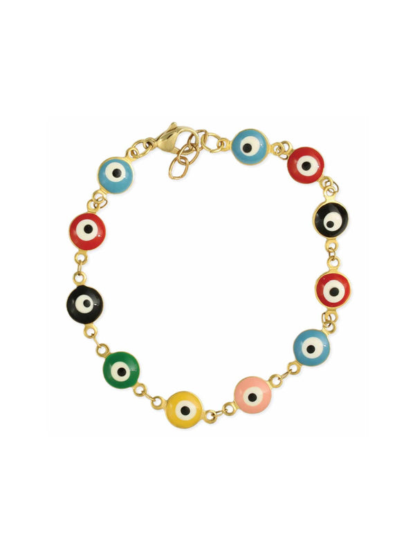 Colorful Evil Eye Bracelet | Gold Fashion | Light Years Jewelry