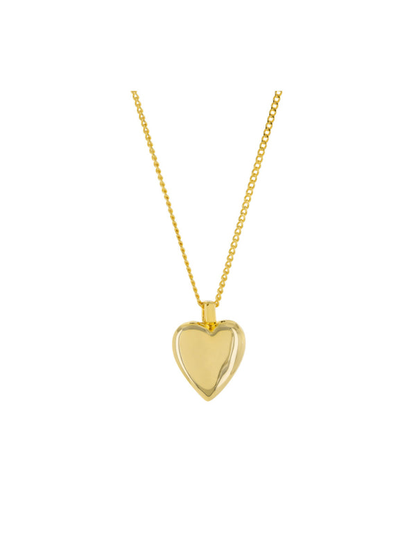 Classic Heart Necklace | Gold Plated Chain Pendant | Light Years Jewelry