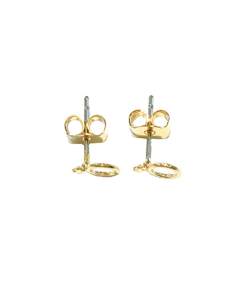 Woman Power Symbol Posts | Gold Plated Studs Earrings | Light Years