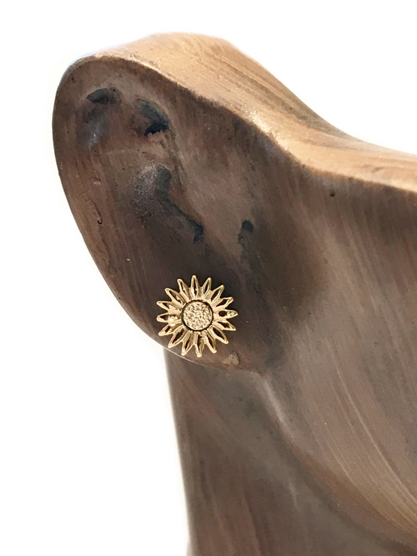 Gold Daisy Flower Posts | Gold Plated Studs Earrings | Light Years