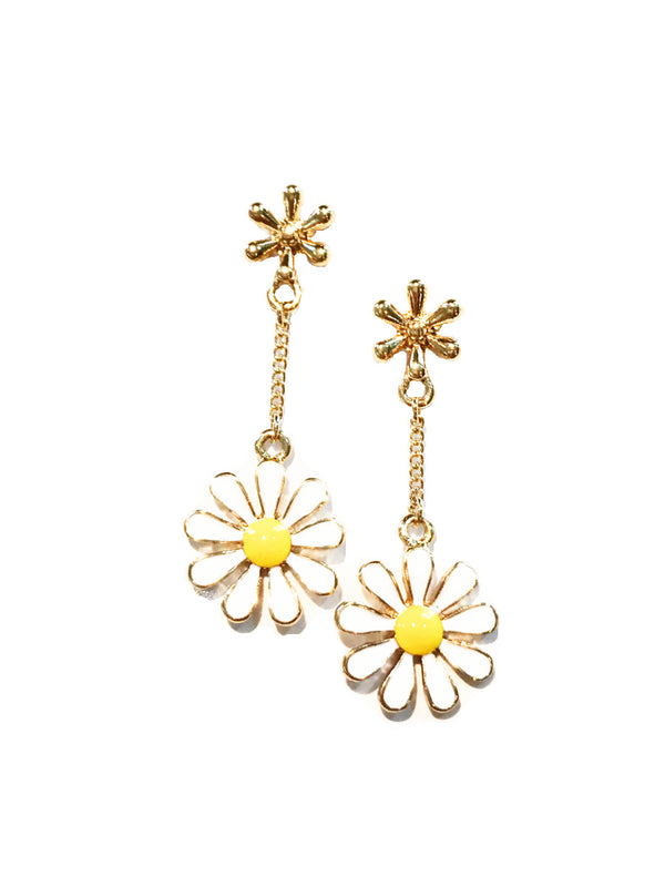 Daisy Chain Dangle Posts | Gold Plated Stud Earrings | Light Years