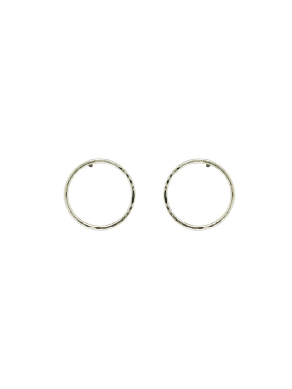 Hammered Ring Posts | Handmade Earrings Sterling Silver | Light Years