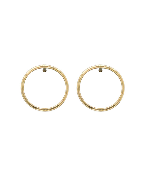 Hammered Ring Posts | Sterling Silver Gold Filled Earrings | Light Years