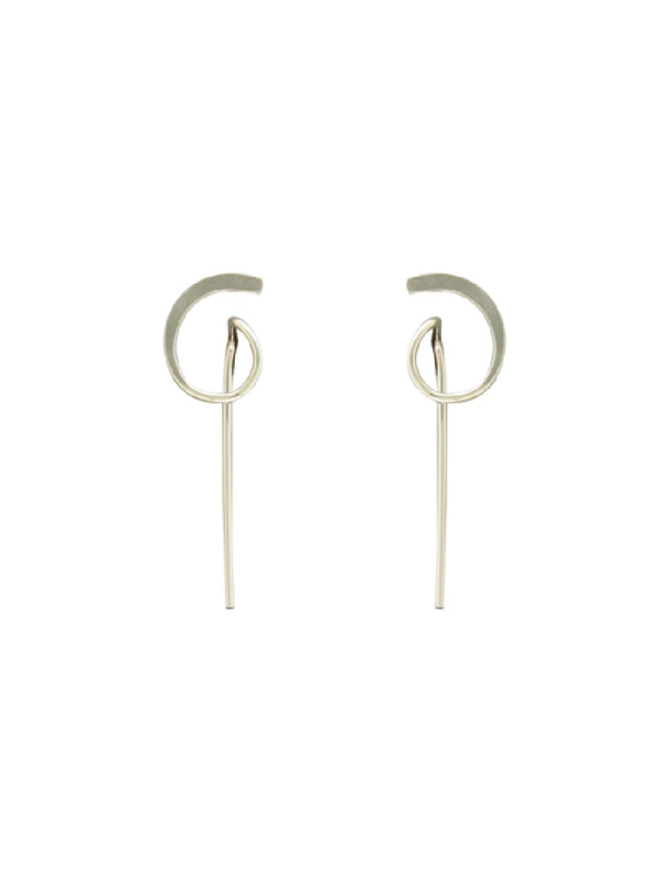 Modern Curled Ear Threads | Sterling Silver Gold Filled Earrings | Light Years