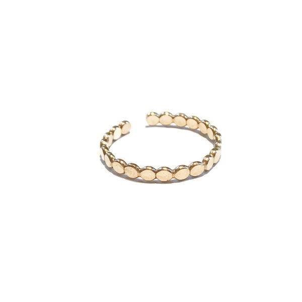 Dot Band Toe Ring | 14kt Gold Filled USA Made | Light Years Jewelry