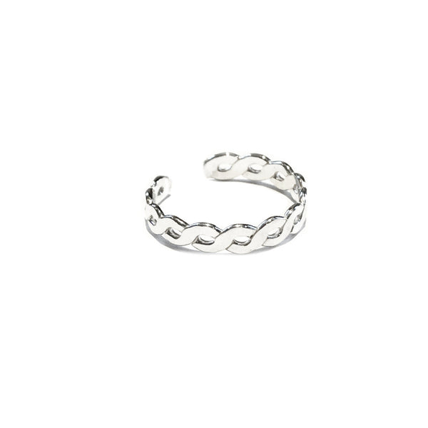 Flat Braided Band Toe Ring | Sterling Silver | Light Years Jewelry