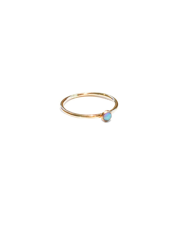 Simple Blue Opal Ring | 14kt Gold Filled Band Size 6 7 8 9 | Light Years