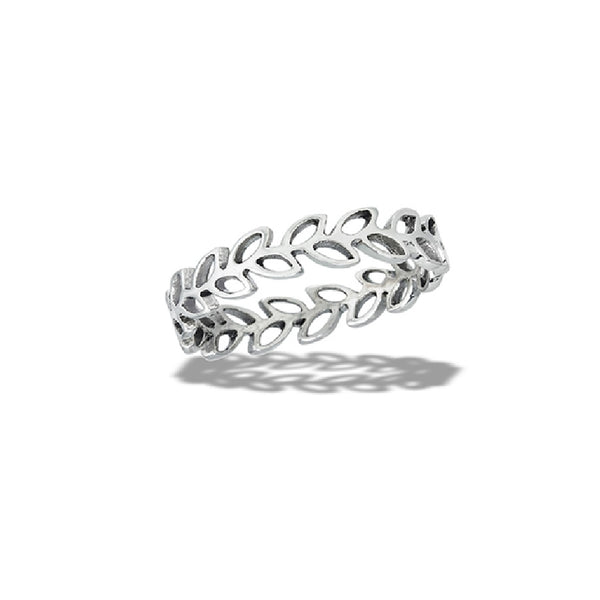 Open Leaves Vine Band | Sterling Silver Band Size 6 7 8 9 10 | Light Years