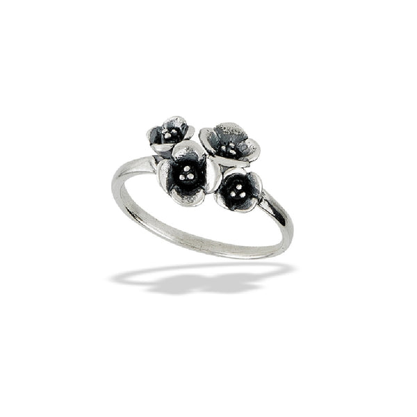 Flower Bouquet Ring | Sterling Silver Size 6 7 8 9 | Light Years Jewelry