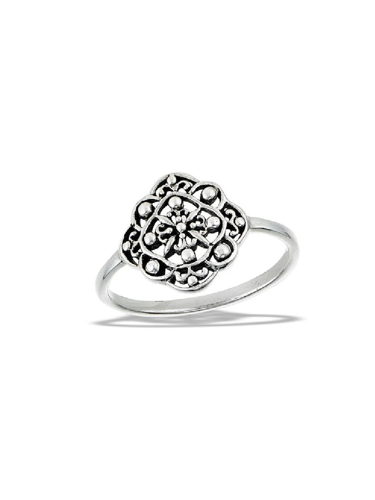 Ornate Filigree Ring | Sterling Silver Size 5 6 7 8 9 | Light Years