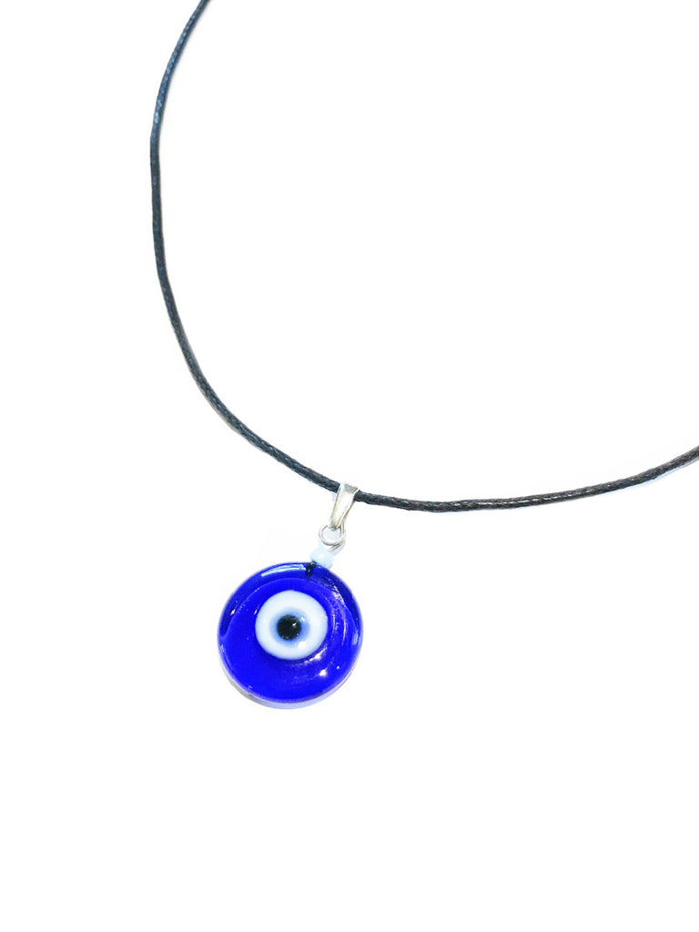 Blue Glass Eye Charm Choker | Turkish Handmade Necklace | Light Years
