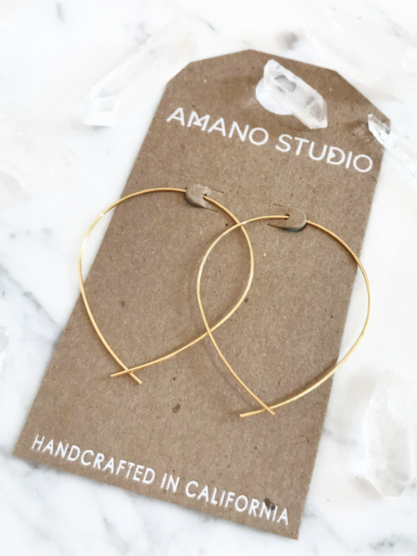 Amano Handmade Ear Thread Hoops | 14kt Gold Vermeil Earrings | Light Years