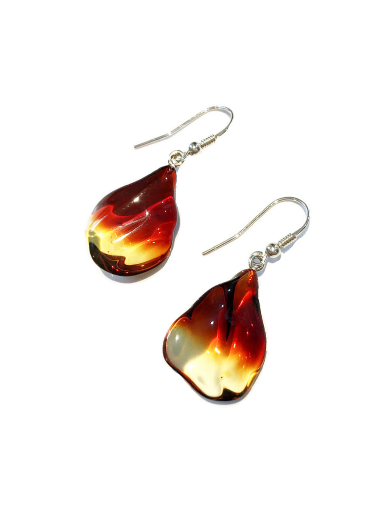 Ombre Baltic Amber Dangles | Sterling Silver Earrings | Light Years