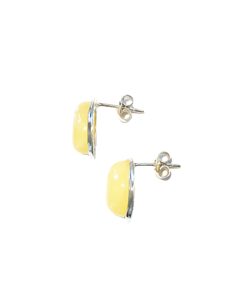 Butterscotch Amber Posts | Sterling Silver Studs Earrings | Light Years