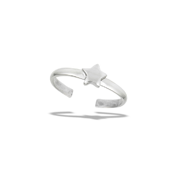 Shining Star Adjustable Toe Ring | Sterling Silver | Light Years Jewelry