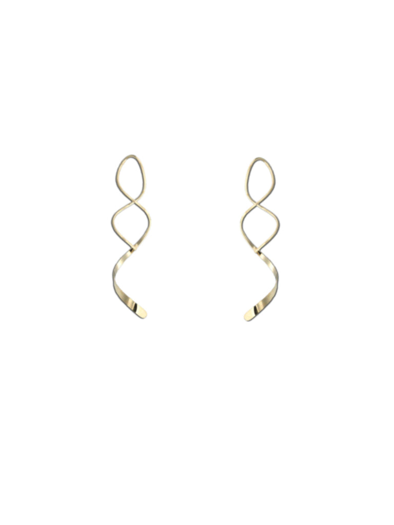 Classic Twist Earrings | Sterling Silver Gold Fill Niobium | Light Years