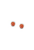 Round Stone Posts | Red Coral | Sterling Silver Stud Earrings | Light Years Jewelry