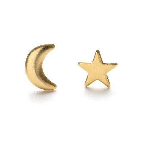Night Sky Stud Earrings | Gold Plated Posts Amano | Light Years Jewelry
