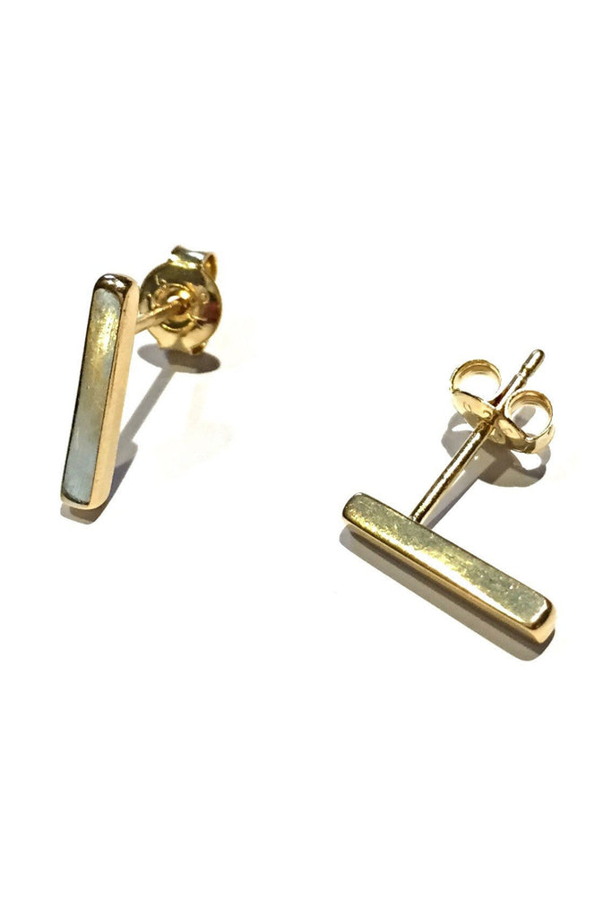 Gold Vermeil Bar Posts, $14 | Stud Earrings | Light Years Jewelry