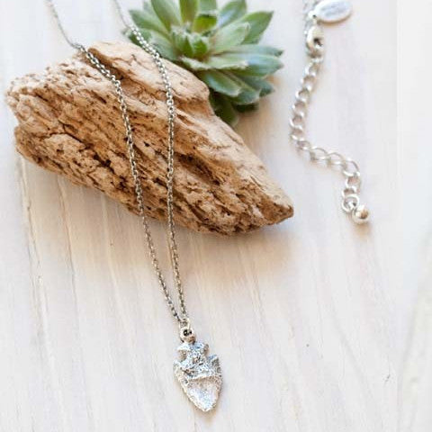 Cast Arrowhead Necklace by Amano, $26 | Silver or Gold | Light Years