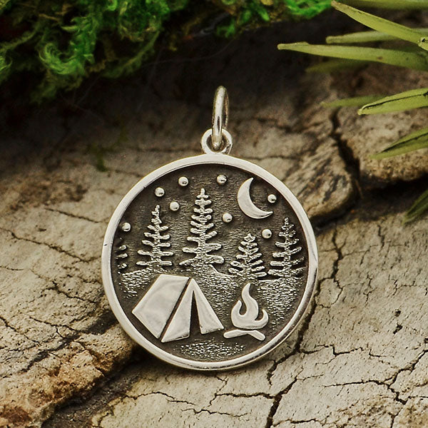 Camping Under the Stars Necklace | Sterling Silver Chain | Light Years