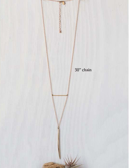 Bronze Age Needle Necklace by Amano, $38 | Light Years Jewelry