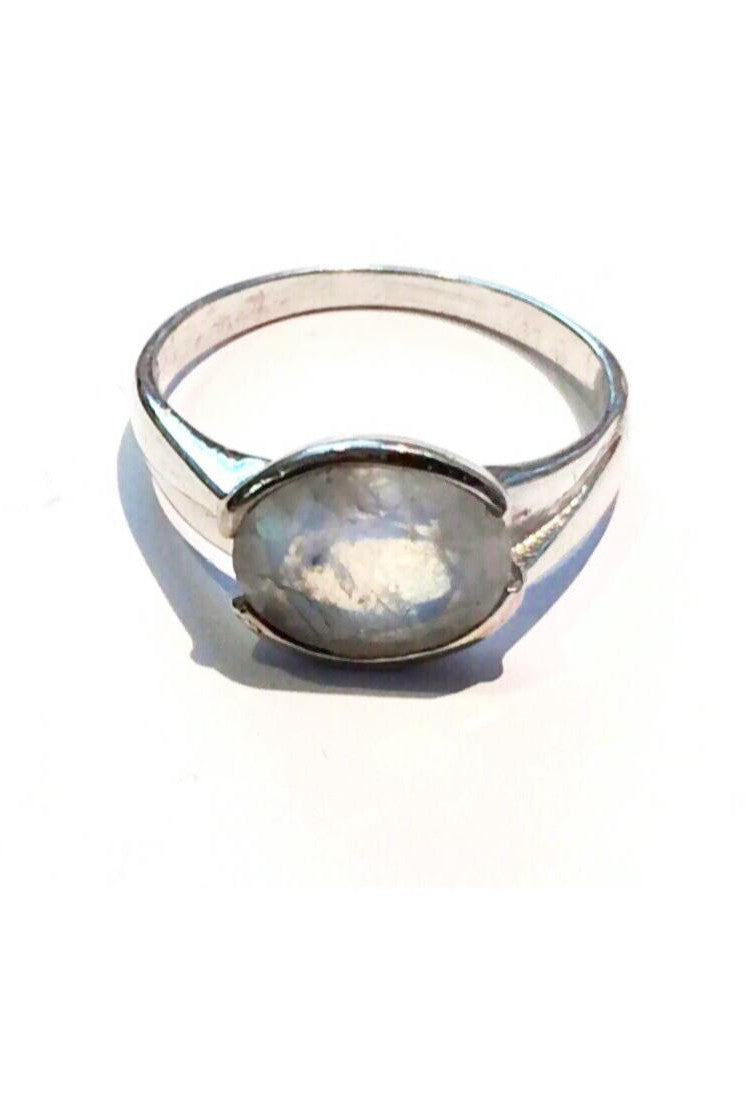 Faceted Moonstone Ring, $30 | Sterling Silver | Light Years Jewelry