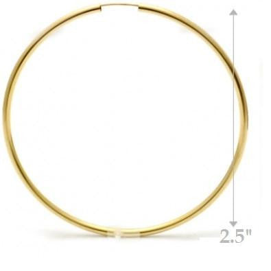 Thick Gold-Filled Endless Hoops | Various Sizes | Light Years Jewelry