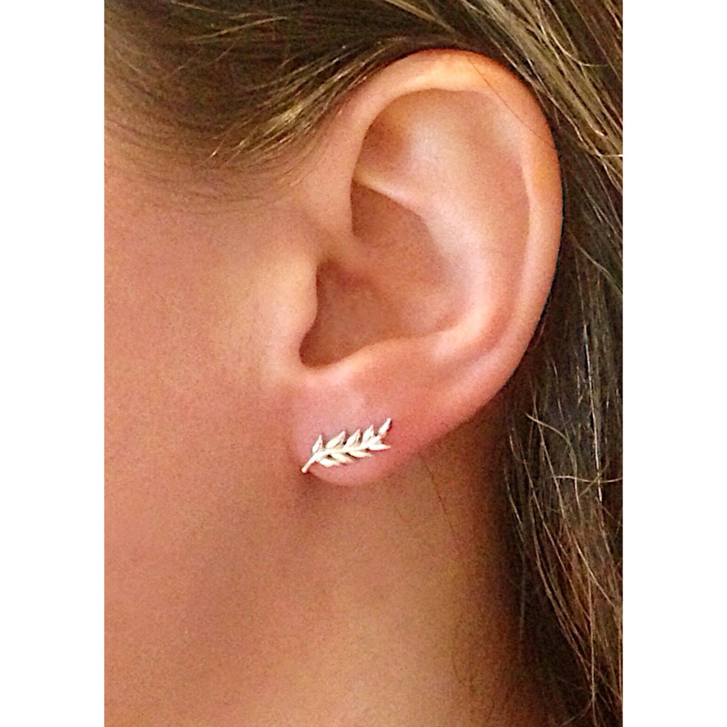 Silver Leaf Posts, $14 | Sterling Stud Earrings | Light Years Jewelry