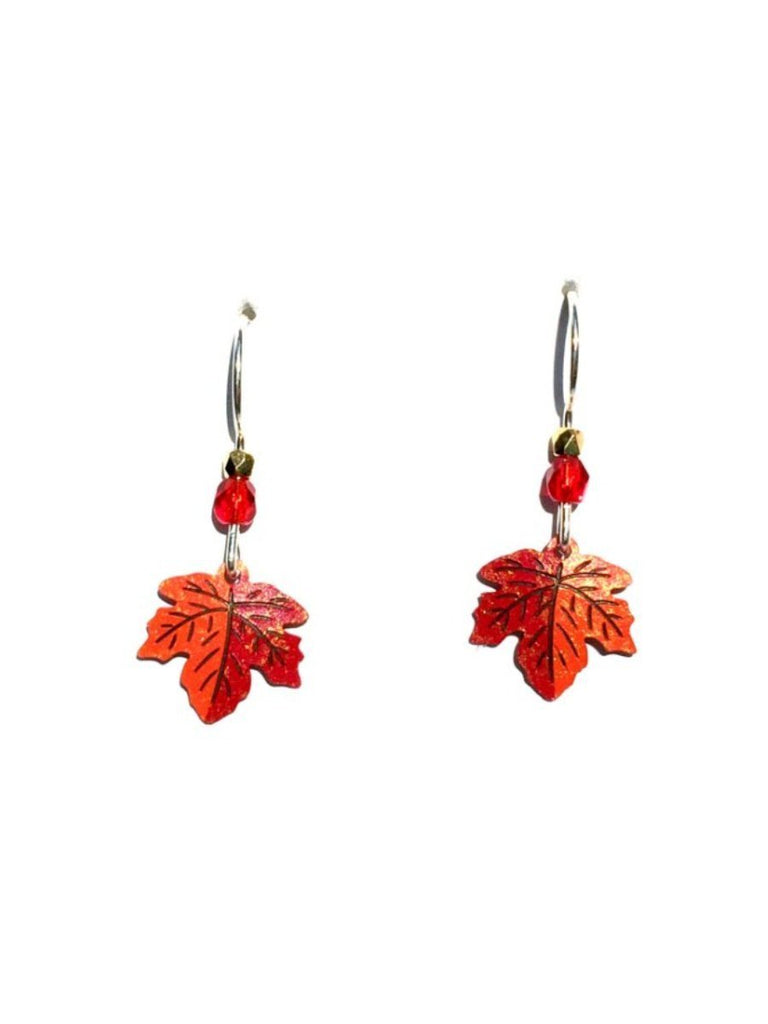 Maple Leaf Dangles by Sienna Sky, $16 | Sterling Silver USA | Light Years