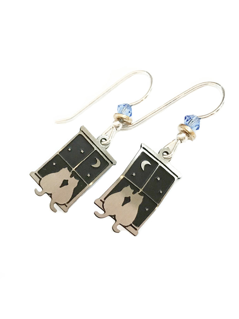Kitty Love Dangles Sienna Sky | Sterling Silver Earrings | Light Years