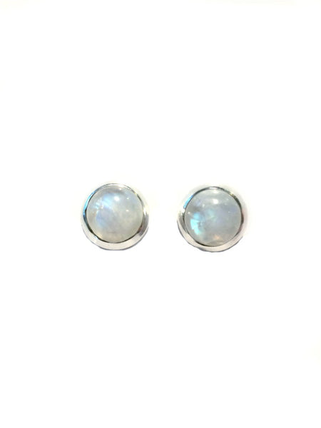 Round Moonstone Posts, $15 | Sterling Silver Stud Earrings | Light Years