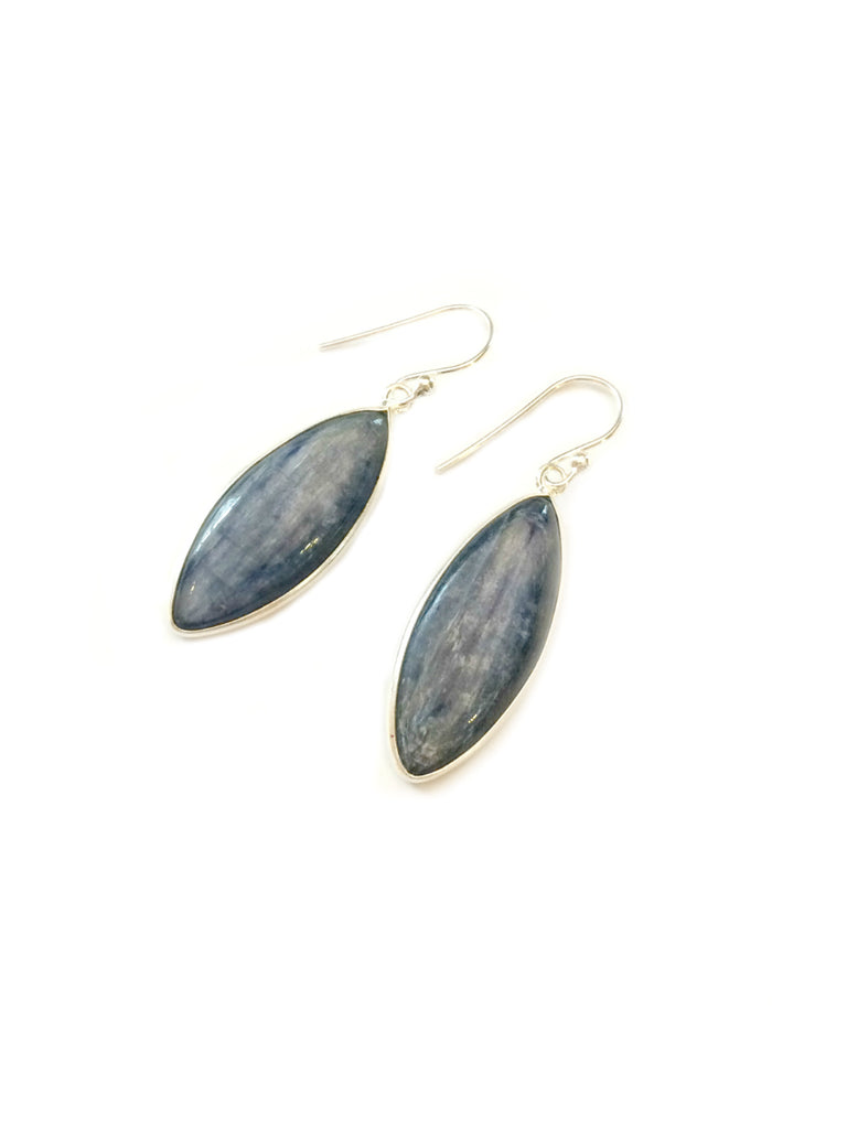 Kyanite Marquis Dangle Earrings | Sterling Silver | Light Years Jewelry