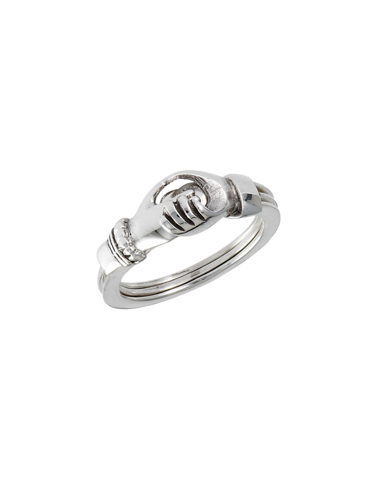 Hands and Heart Ring | Sterling Silver Fede Claddaugh | Light Years