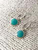 Gemstone Huggie Hoops | Sterling Silver Turquoise Earrings | Light Years