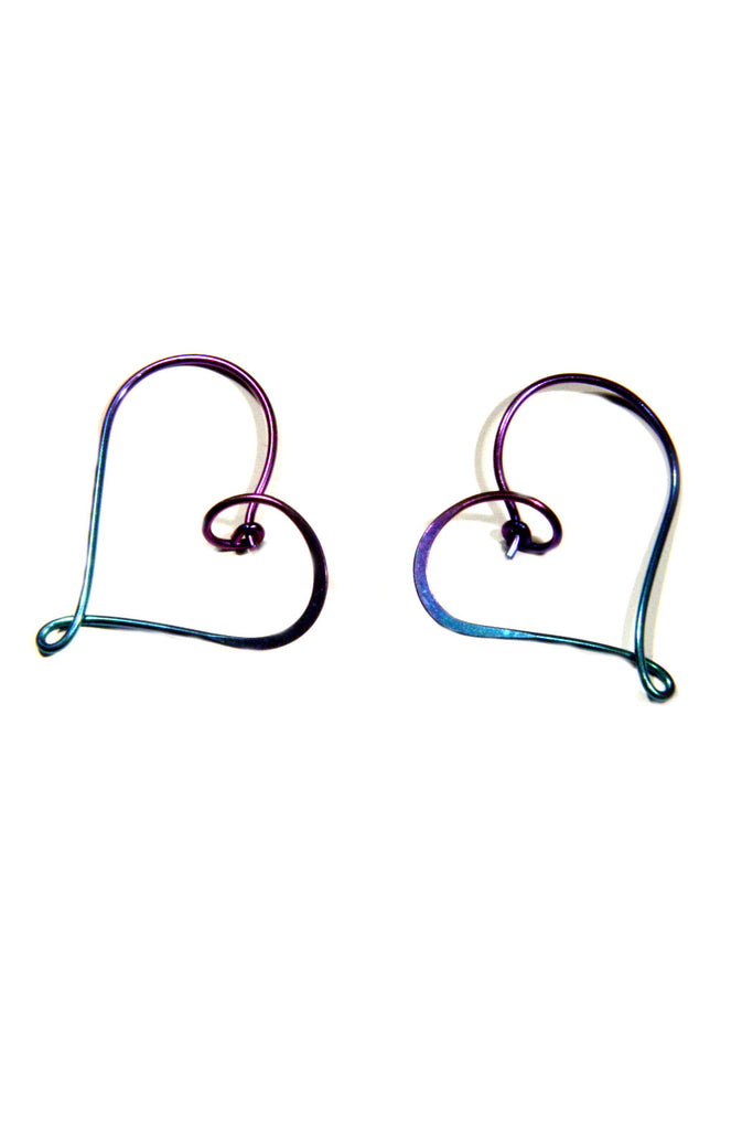 Heart Hoop, $18 | Sterling Silver, Gold Filled, Niobium | Light Years