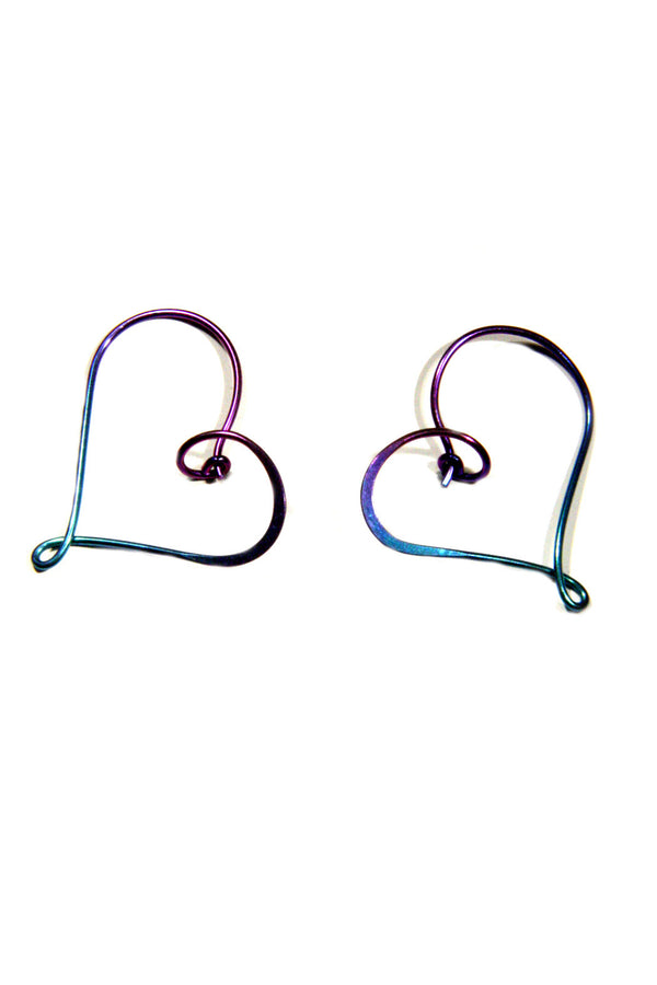 Heart Hoop | Sterling Silver, Gold Filled, Niobium | Light Years Jewelry