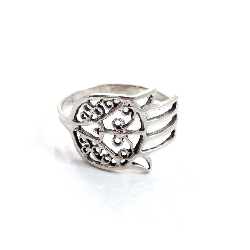 Silver Hamsa Ring, $12 | Sterling Silver | Light Years Jewelry