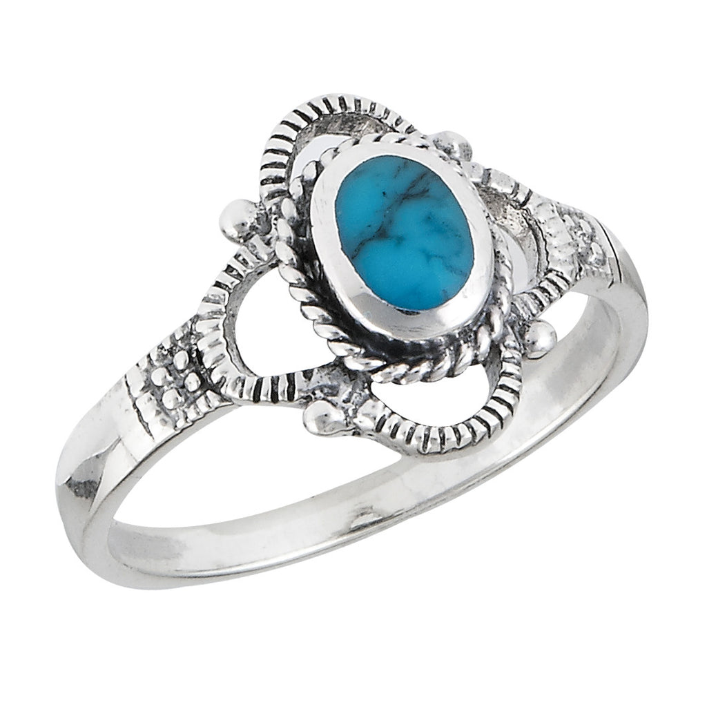 Turquoise Twist Ring, $14 | Sterling Silver | Light Years Jewelry