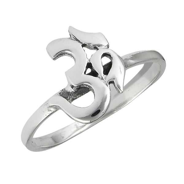 Om Symbol Ring | Sterling Silver Sizes 5 6 7 8 | Light Years Jewelry