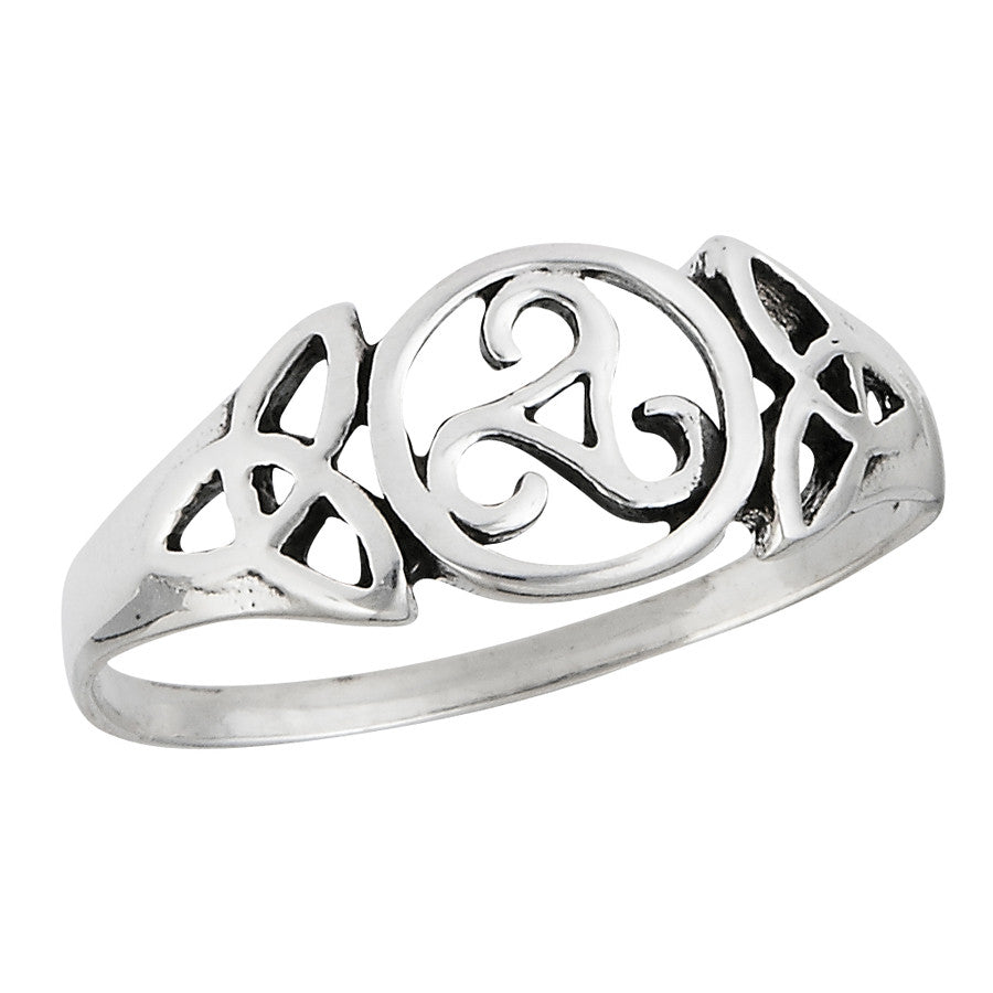 Triskelion & Triquetra Celtic Ring $14 | Sterling Silver | Light Years