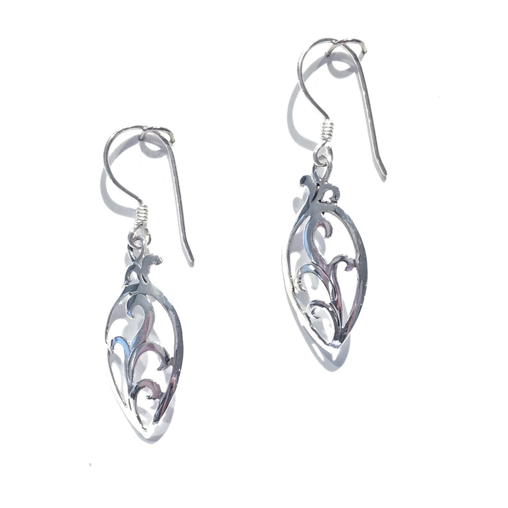 Silver Vine Scroll Earrings, $22 | Sterling | Light Years Jewelry