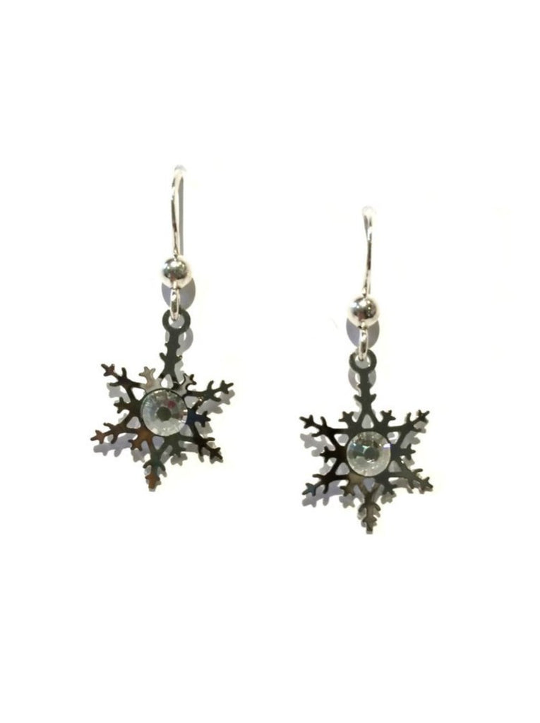 Crystal Snowflake Earrings Sienna Sky | Sterling Silver | Light Years