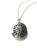 Oil Diffuser Locket Necklace | Long Silver Chain Pendant | Light Years