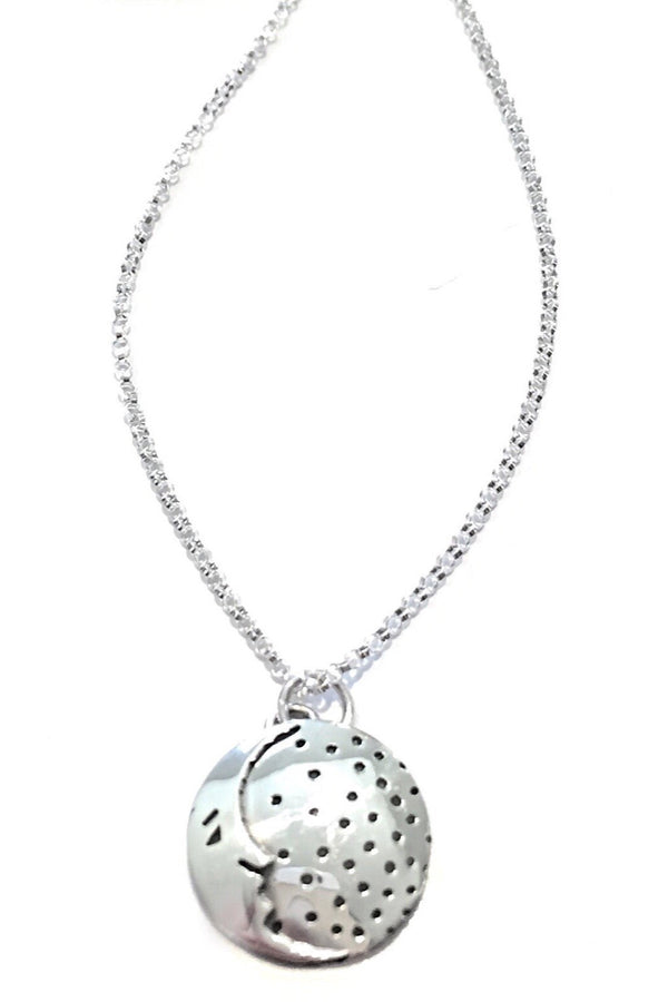 Sterling Silver Moon Pendant and Chain, $29 | Light Years Jewelry