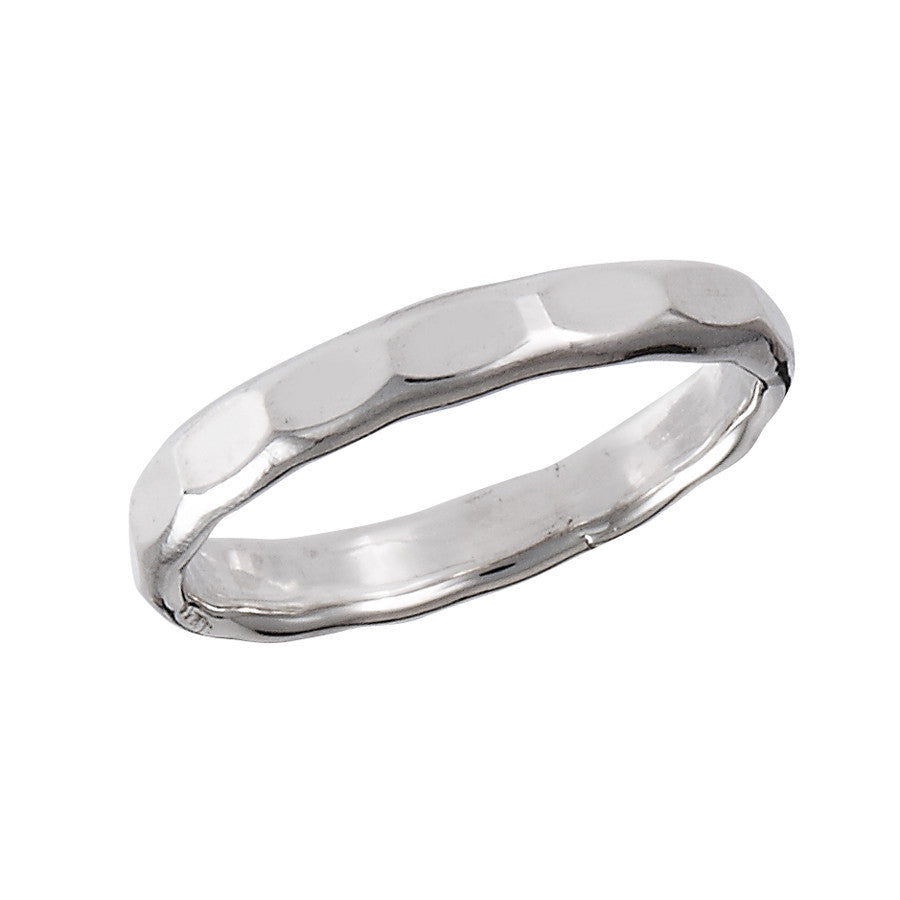 Silver Hammered Band Ring, $12 | Sterling Silver | Light Years Jewelry